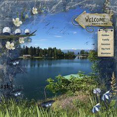 Welcome Reunion by Linda Holden. Kit: Countryside by Scrapbird Designs collab http://scrapbird.com/kits-c-446/scrapbird-collab-c-446_113/countryside-p-18165.html