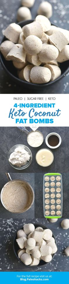 Snack on these perfectly portioned Keto coconut fat bombs made with just four ingredients! Get the full recipe here: http://paleo.co/ketofatbombs