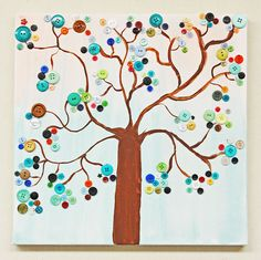 Ben Franklin Crafts & Frame Shop: Button Tree Art