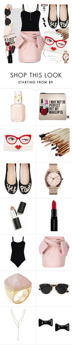 """""""Yes Please..."""" by unamiradaatuarmario ❤ liked on Polyvore featuring Essie, Sephora Collection, H&M, Kate Spade, Nixon, Sigma Beauty, Smashbox, Baguette....., Simone Rocha and Michael Kors"""
