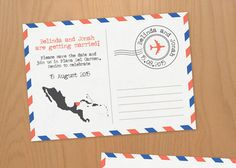 Air Mail DIY printable save the date / by Polkadot Stationery