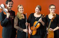 6.7. Oosm-kvartetti. Energisistä ja luomisvoimaisista esiintymisistään tunnettu huilukvartetti esittää sekä kotimaista että ulkolaista klassista musiikkia. #eckeröline #suomi100 #elämyslaineilla #msfinlandia