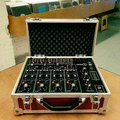 Spanish built Taula 4 portable desktop mixer in black.