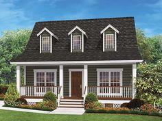 ePlans Cottage House Plan– Quaint Country Cottage – 900 Square Feet and 2 Bedrooms from ePlans – House Plan Code HWEPL77213