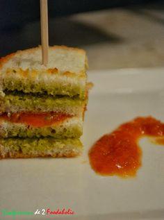 Canapé au pesto et à la crème de poivrons | Confessions de 2 foodaholic