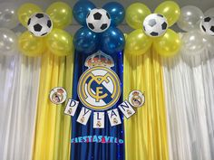 Decoracin de cumpleaos real madrid by kot handmade julians 8th adornos de fiesta de mateo thecheapjerseys Choice Image