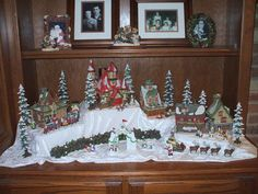New Post christmas village displays in bay window Diy Christmas Village Platform, Diy Christmas Village Displays, Christmas Villages, Paper Decorations, Halloween Decorations, Christmas Decorations, Holiday Decor, Department 56, Contemporary Christmas Ornaments