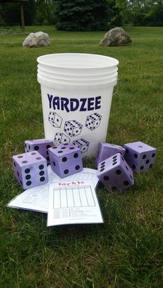 Yardzee-Yard Dice-BIG Yard Games-Giant by StudioSheppard on Etsy Dice Games, Fun Games, Party Games, Games For Kids, Games To Play, Party Party, Giant Yard Games, Backyard Games, Giant Outdoor Games