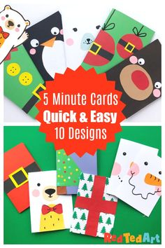 10 Super Simple Christmas Card Designs to make in less than 5 minutes