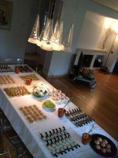 Mesa servida para el Catering de Ainara y Enrique