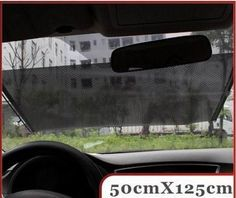 50/58x125cm automatic telescopic type automobile curtain sun shading cover sun shading board black curtain Free Shipping