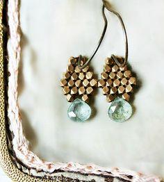 Aquamarine Brass Drop Earrings | Jewelry Earrings | Caprichosa Jewelry | Scoutmob Shoppe | Product Detail