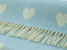 Bronte Baby Blanket Blue Heart