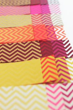 colors, colors in chevron! from the blog fellowfellow.