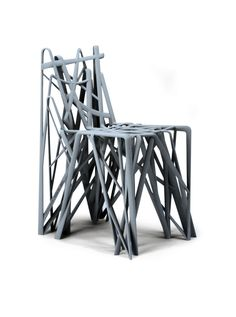 """Patrick Jouin (1967) """"C2 Solid Chair"""" Paris, 2008 Paris, Frankreich, 2008 78.5 x 40.4 x 54 cm Plastic (formed with technology of the Stereolithographie/Rapidly Prototyping manufacture) Museum für Kunst und Gewerbe Hamburg Photo: Jörg Arend/Maria Thrun"""