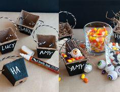 Chalkboard peat pot treat baskets!