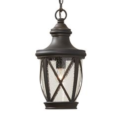 allen + roth Castine 16.93-in Rubbed Bronze Outdoor Pendant Light Our new porch light on the front porch! Love it with an Edison type funky lightbulb.