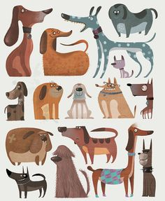 DOGS by Gerald Guerlais, via Behance