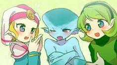 Zelda, Ruto and Saria