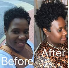 10 Full Coverage Tapered Crochet Styles From dani tolliver You Have To See [Gallery] - Black Hair In Short Natural Styles, Natural Hair Styles For Black Women, Short Styles, Weave Hairstyles, Pretty Hairstyles, Short Crochet Braids Hairstyles, Crotchet Braids, Protective Hairstyles, Natural Hairstyles