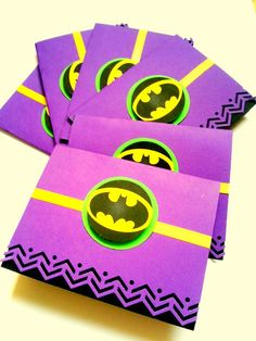 6 Batman Card Superhero Birthday  Boy Thank you card Childrens Birthday Invite Sci fi techie geek Handmade Note Cards Notecards via Etsy