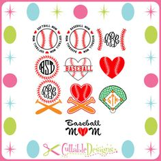 Baseball Softball Cut Files DFX / SVG / EPS