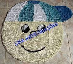 Resultado de imagen para tapete decorativos barbante crochet