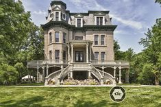 Photographing The Hegeler Carus Mansion - La Salle, IL - CG Architectural and Real Estate Photography Victorian Style Homes, Victorian Farmhouse, Victorian Photos, Victorian Houses, Victorian Architecture, Historical Architecture, Types Of Houses, Big Houses, Beautiful Buildings