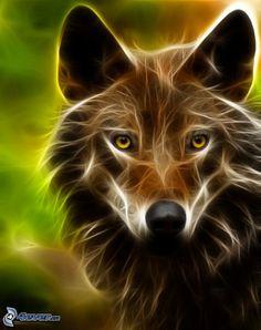 Fractalius altered wolf