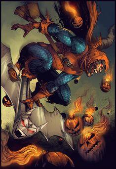 Hobgoblin by Marcio Abreu * Comic Book Villains, Marvel Villains, Comic Books Art, Comic Art, Marvel Art, Marvel Dc Comics, Marvel Heroes, Spiderman Art, Amazing Spiderman