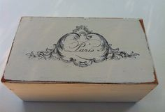 French File Box Shabby Paris Chic by BohemeQueen on Etsy, $45.00