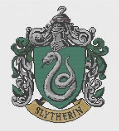 Slytherin Crest Cross Stitch Pattern by PatronusStitch on Etsy