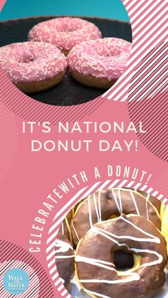 Yes to DONUTS! Powdered Donuts, National Donut Day, Donut Glaze, Chocolate Donuts, Baked Donuts, Days Of The Year, Special Day, Doughnut, Drinks