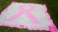 Free Pink Ribbon Afghan Pattern | LFHardy's Breast Cancer Support Group Afghan - Submit an Entry: Best ...