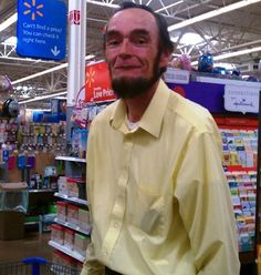 Found Abraham Lincoln at Wal-Mart… I have no idea why but I just laughed out loud. Imagine running into this guy? Lol. Hilarious