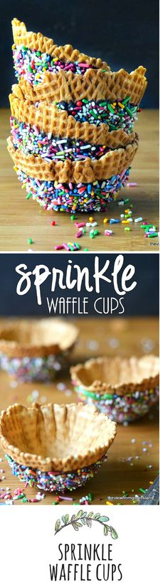 For berries, candy, or ice cream, these cups can be customized with any color sprinkles you like...
