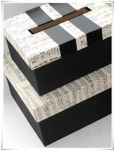 music themed wedding card box - Google Search   add some purple to it