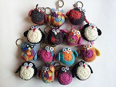 Crochet Amigurumi Keychain Free Pattern : Crochet owl key chains free pattern crochet