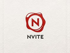 NVITE logo design. Cool waxed stamp effect.
