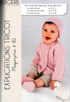 Items similar to Autumn Winter Collection Newborn to 2 Years, Boys and Girls, Knitting Patterns for Bergere de France Yarn, Book 34 Patterns on Etsy Knitting Books, Knitting For Kids, Baby Knitting, Crochet Bebe, Knit Crochet, Crochet Hats, Knitting Magazine, Crochet Magazine, Baby Patterns