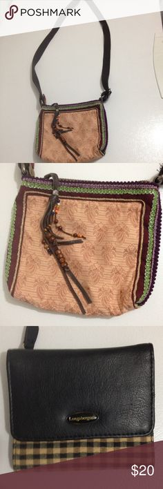 American eagle bag and Longaberger wallet Both in great shape! American eagle cross body bag and wallet snaps and folds out with multiple compartments American Eagle Outfitters Bags