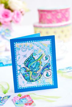 Use Posca Pens and the art therapy technique to create beautiful cards, a canvas and gift bag