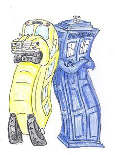 Magic School Bus and TARDIS by Nebulan on deviantART