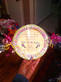 Candy land Theme Invitations