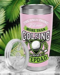 Mens The Only Thing I Love More Than Golfing Is - Classic Pink #art #crafts #design golfer silhouette, golfer boyfriend, golfer elbow, dried orange slices, yule decorations, scandinavian christmas Gifts For Golfers Men, Golf Gifts, Arnold Palmer Golfer, Adam Scott Golfer, Lpga Golf, Cute Golf Outfit, Dried Orange Slices, Golf Training Aids, Golf Party