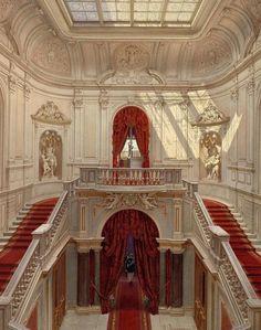 House Entrance Staircase Dream Homes Ideas Nature Architecture, Baroque Architecture, Beautiful Architecture, Beautiful Buildings, Interior Architecture, Interior And Exterior, Beautiful Places, Interior Design, Interior Ideas