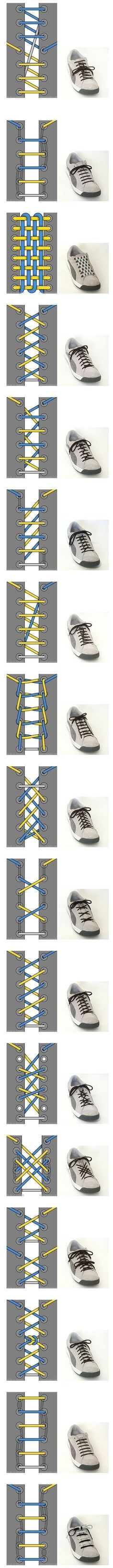 Cool Ways To Tie Your Shoe Laces  I like it