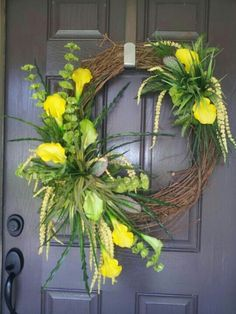 Spring/summer grapevine wreath by kyong