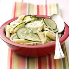 Cool Cucumber Pasta Recipe from Taste of Home -- shared by Jeanette Fuehring of Concordia, Missouri