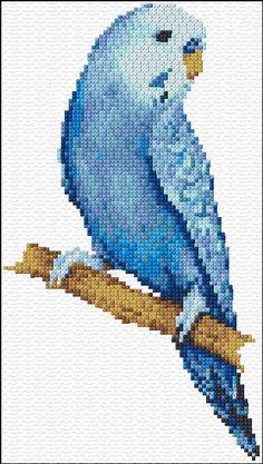 Cross Stitch | Blue Parakeet xstitch Chart | Design